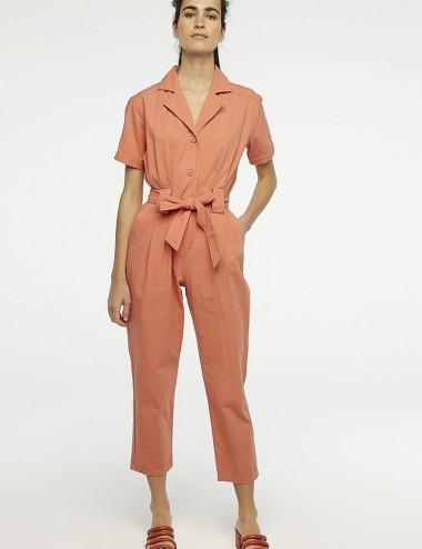Φόρμα πορτοκαλί με γιακά και δέσιμο στη μέση Compania Fantastica
