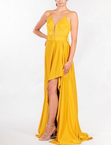 Φόρεμα μάξι με διαφάνεια στο μπούστο STILLI DELIGIANNI
