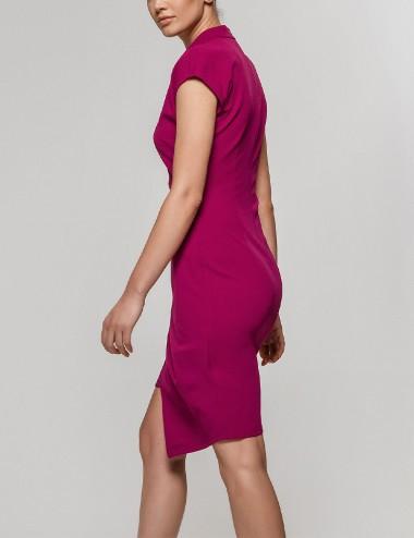 Φόρεμα αμάνικο με ασύμμετρο τελείωμα prune ACCESS FASHION