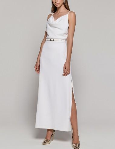 Φόρεμα μάξι καρέ ντραπέ ACCESS FASHION