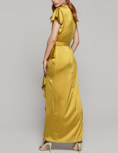 Φόρεμα μάξι με διαγώνιο σκίσιμο ACCESS FASHION