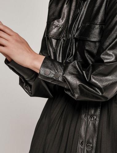 Φόρεμα - Τουνίκ πάνω μέρος δερματίνη EIGHT by ACCESS FASHION